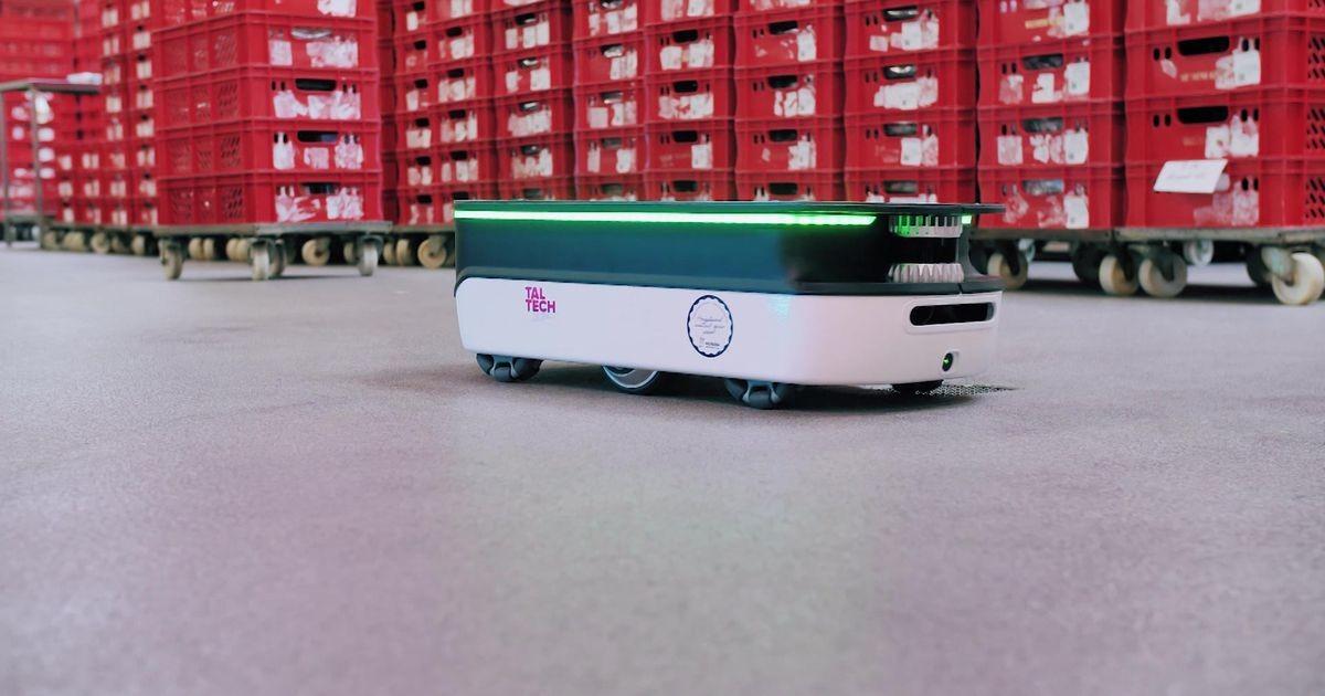 Reporter: Tallinna Tehnikaülikool tutvustas robotit, mis võtab rasked logistikatööd enda õlule
