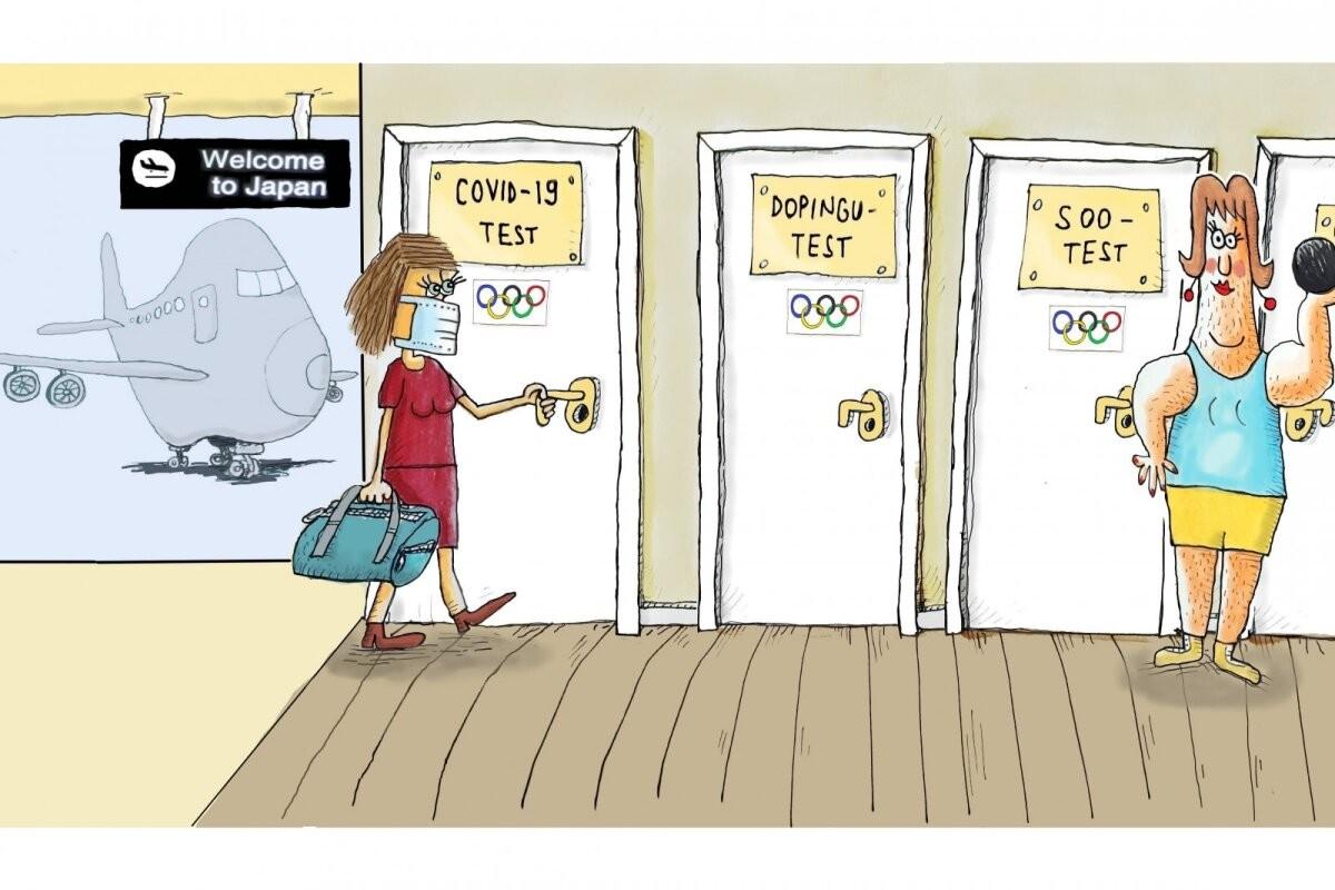 OMi KARIKATUUR | Sportlasi ootab olümpial testide kadalipp