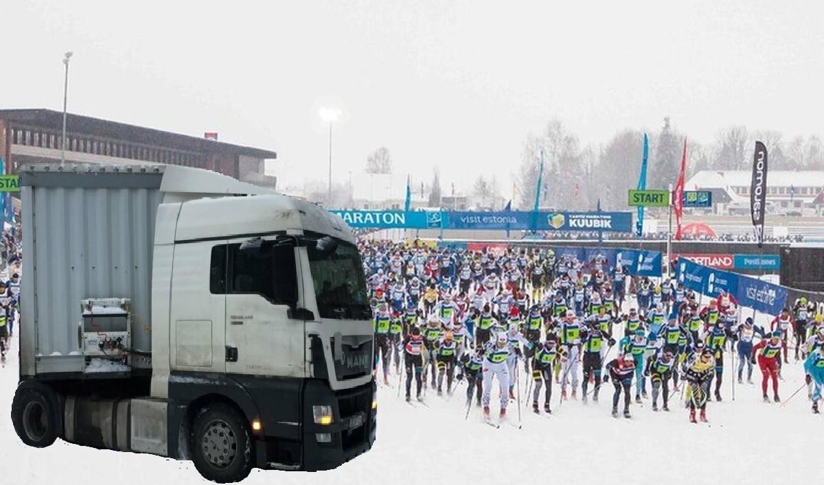 Harku suusarajale sattunud Leedu rekajuht: jah, osalen ka Tartu suusamaratonil