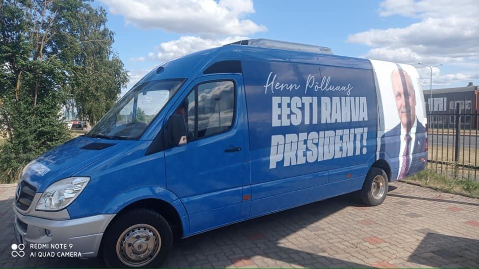Presidendikandidaat Henn Põlluaas alustab homme kampaaniabussiga Eesti ringsõitu