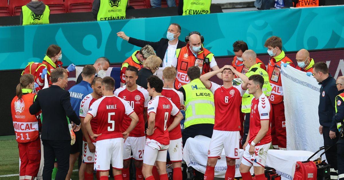 Platsil kokku varisenud Christian Eriksen vajas elustamist, meeskonnad lahkusid platsilt