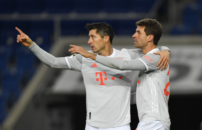 Bayern lõi taas neli väravat, Lewandowski jätkab hiilgavas hoos