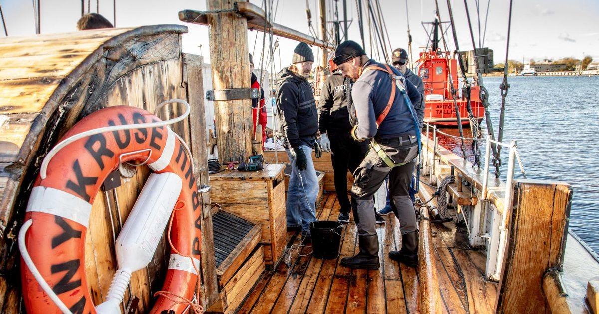 Agapes esitleti dokki purjelaevast