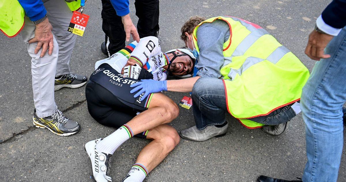 Flandria tuur sai dramaatilise lõpplahenduse, maailmameister kukkus kokkupõrkes mootorratturiga