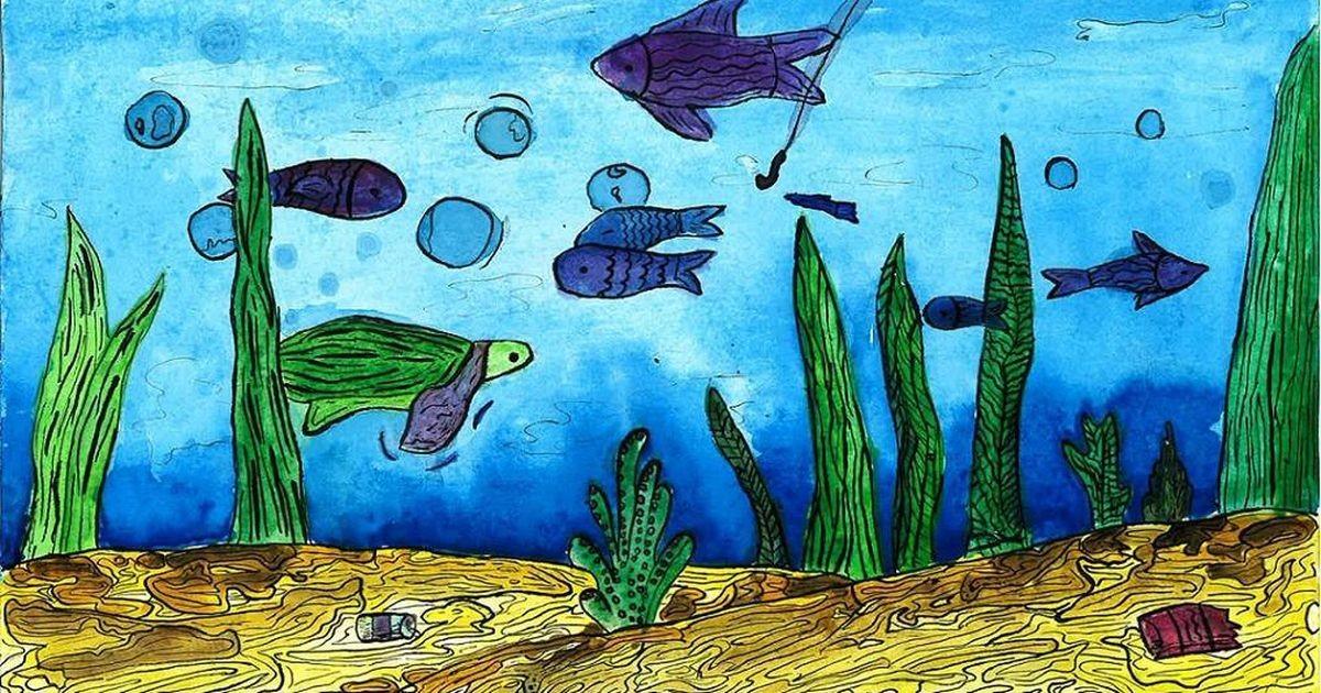 Virumaa lapsed joonistasid veekogusid