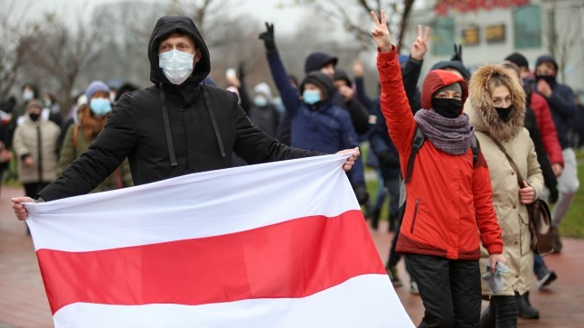 """Valgevene 106 protestipäev: """"Oleme fašismi vastu!"""""""