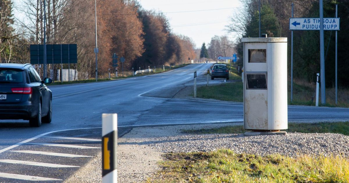 Üks kiiruskaamera kolis Järvamaalt Tartu lähistele