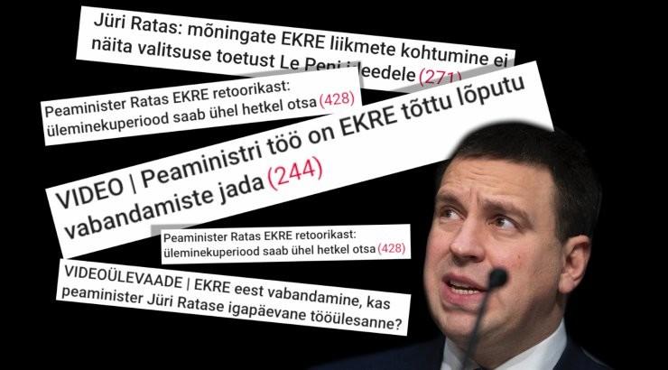 VIDEOÜLEVAADE | Keskerakond jättis EKRE maha. Vaata, kuidas Jüri Ratas on pidanud nende sõnavõtte siluma
