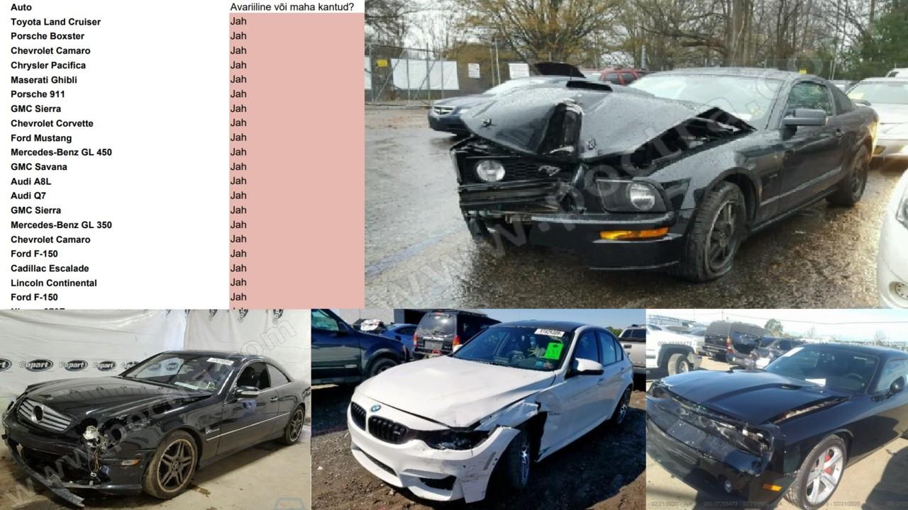 Kasutatud autode äris käib õnnemäng elu ja surma peale: Eestis müüakse kümneid USA-s mahakantud autosid