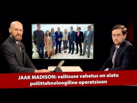 Jaak Madison: valitsuse vahetus on alatu poliittehnoloogiline operatsioon OB