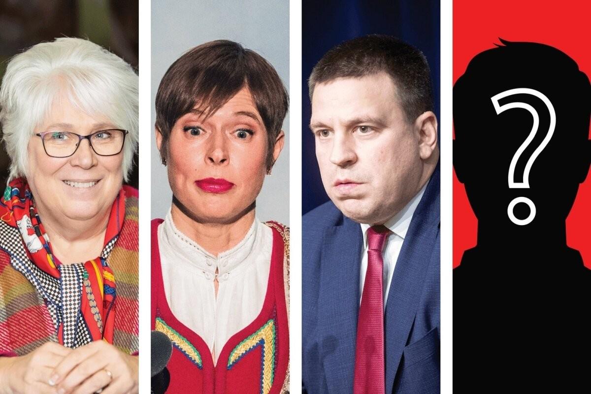 Rahvas tahaks presidendiks Kaljulaidi, Kaljuranda või Ratast. Must hobune on nende kannul