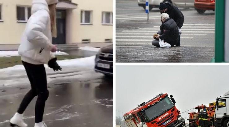 BLOGI | Teed on täna ülilibedad ja ohtlikud, transpordiamet kuulutas jäävihma tõttu välja rasked ilmaolud