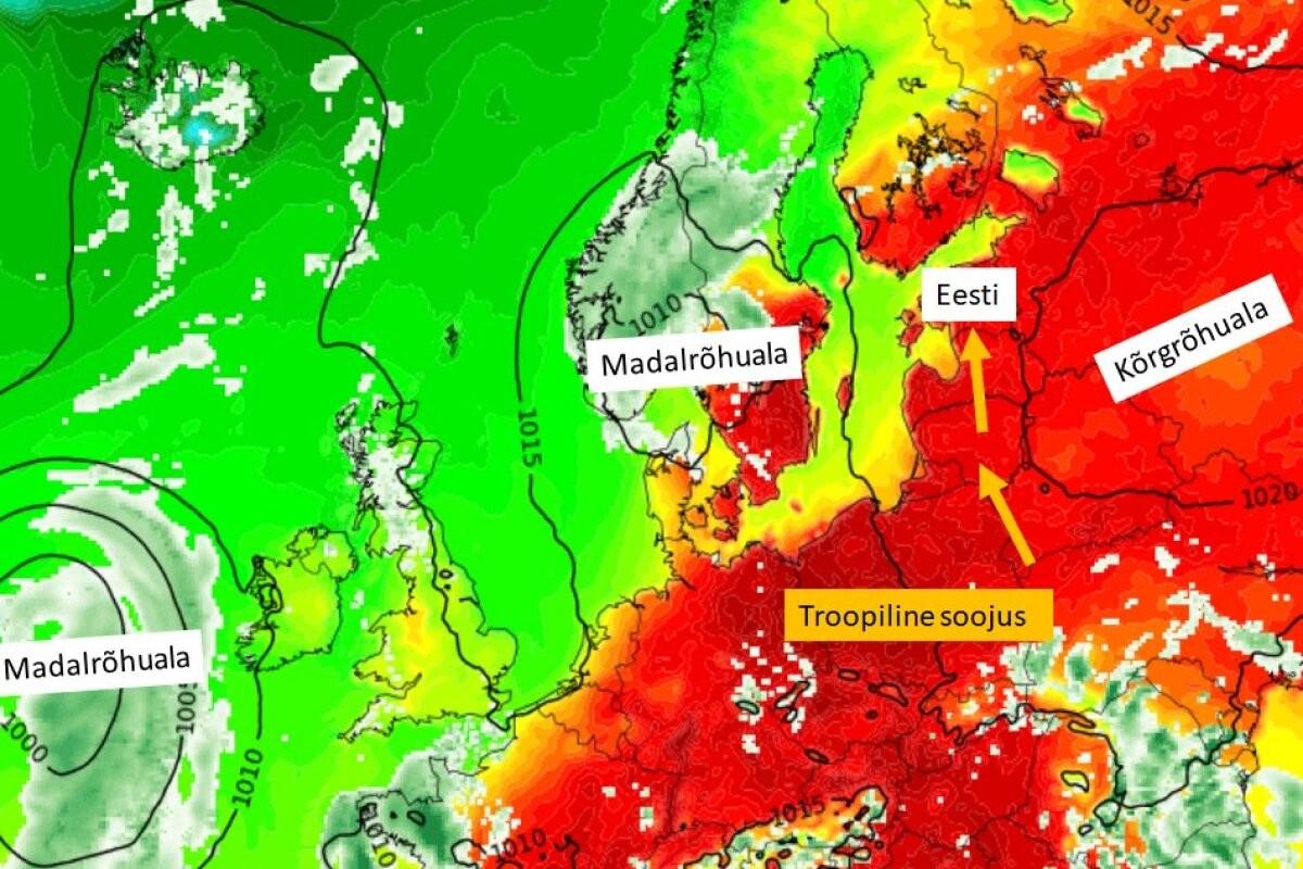 Õhutemperatuur tõuseb täna üle 30 kraadi. Kairo Kiitsak: kõige kuumemad päevad on alles ees