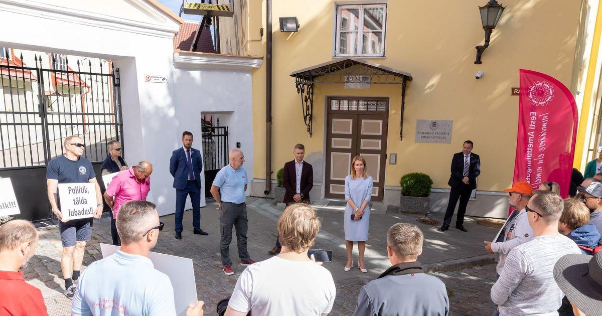 Kaja Kallas: mul on kahju, et päästjad peavad meelt avaldama