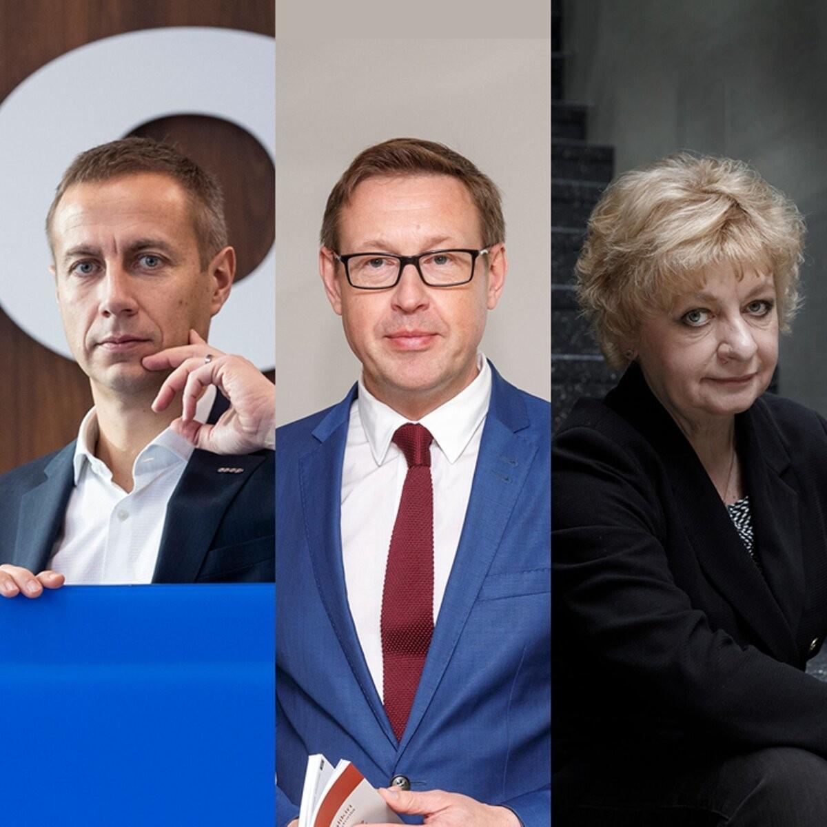 """Selgusid konkursi """"Parim juht 2021"""" finalistid: Margus Rink, Emöke Sogenbits ja Mart Mägi"""