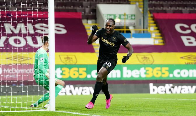 West Ham tõusis võiduga Burnley üle liiga viiendaks