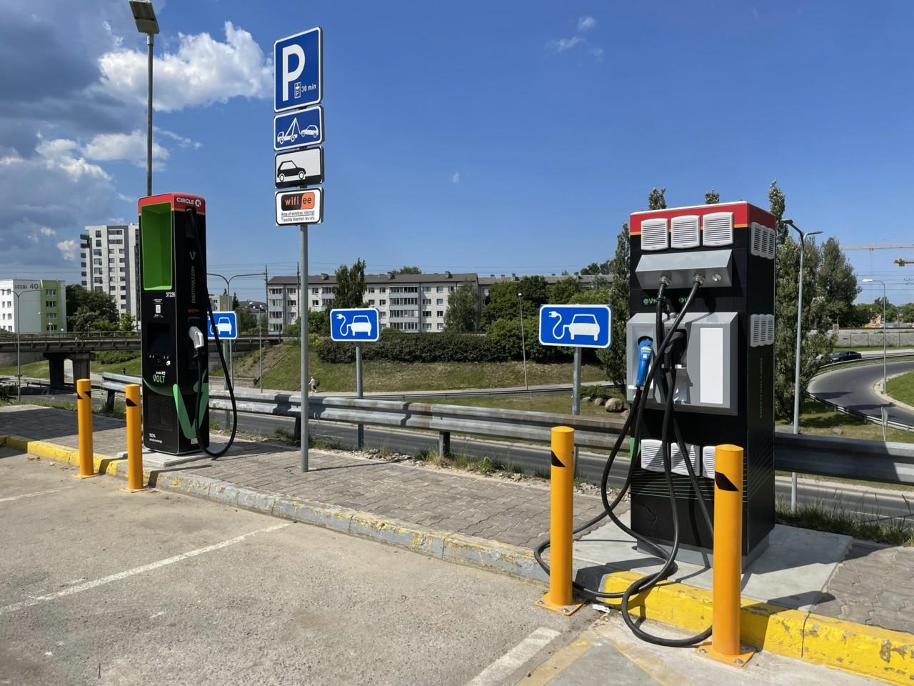 Tallinnas avati uus elektriautode ülikiirlaadija võimsusega 161 kW