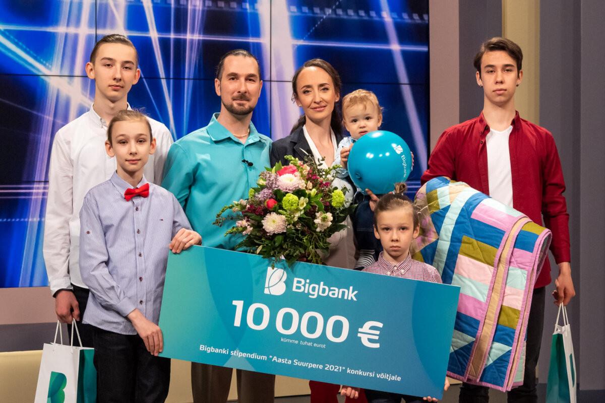 Aasta suurpereks kuulutati 5-lapselised Gužovid Vihterpalust. Isa Andrei: oleme tavaline pere, kel omad raskused