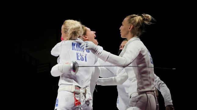 OLÜMPIABLOGI JA GALERII   VÄGEV! Eesti epeenaiskond jõudis poolfinaali