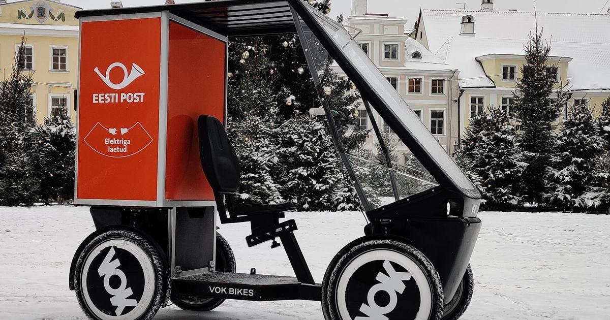Eesti Post katsetab Tallinnas eestimaiste uudsete elektriliste kaubaratastega postivedu