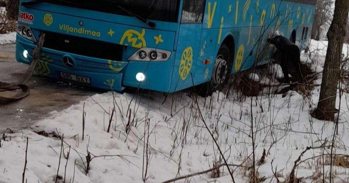 Libedus on halvanud maakonna bussiliikluse