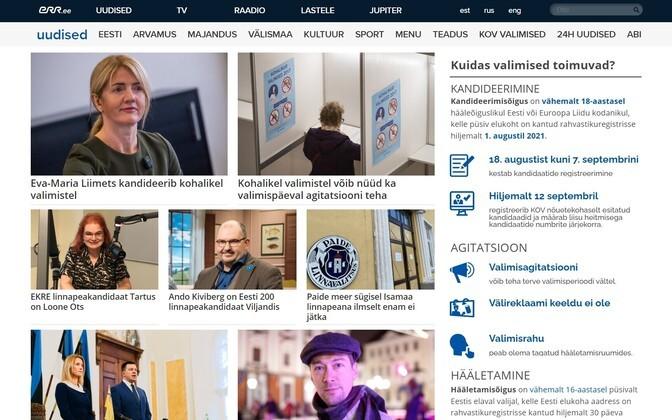 ERR avas kohalike valimiste veebilehe