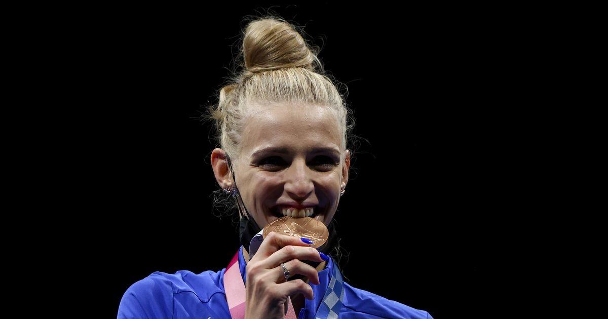Olümpiapronksi võitnud Lehis sai tseremoonial medali kaela