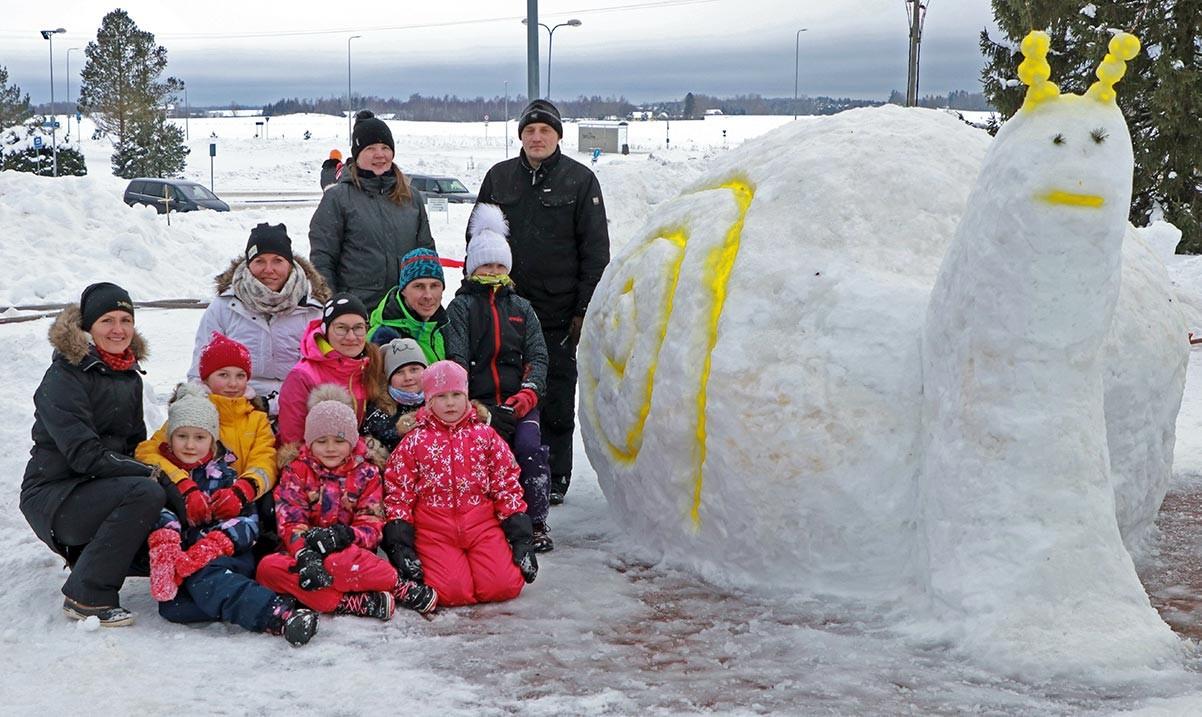 Kuusalu lumelinna ehitasid 12 võistkonda