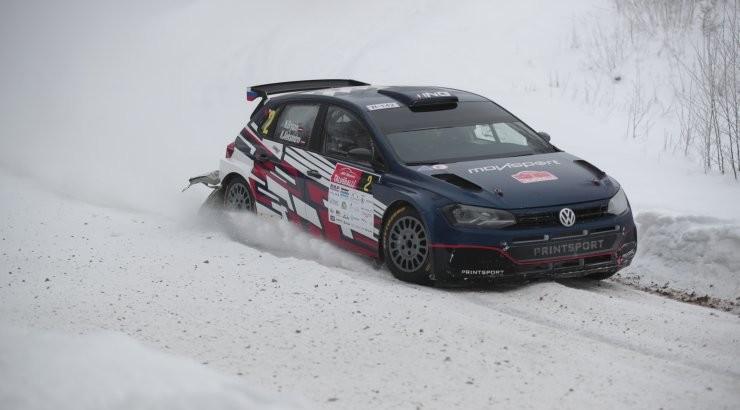 Otepääl üle katuse käinud Venemaa rallimees testis Lapimaal Fordi WRC autot
