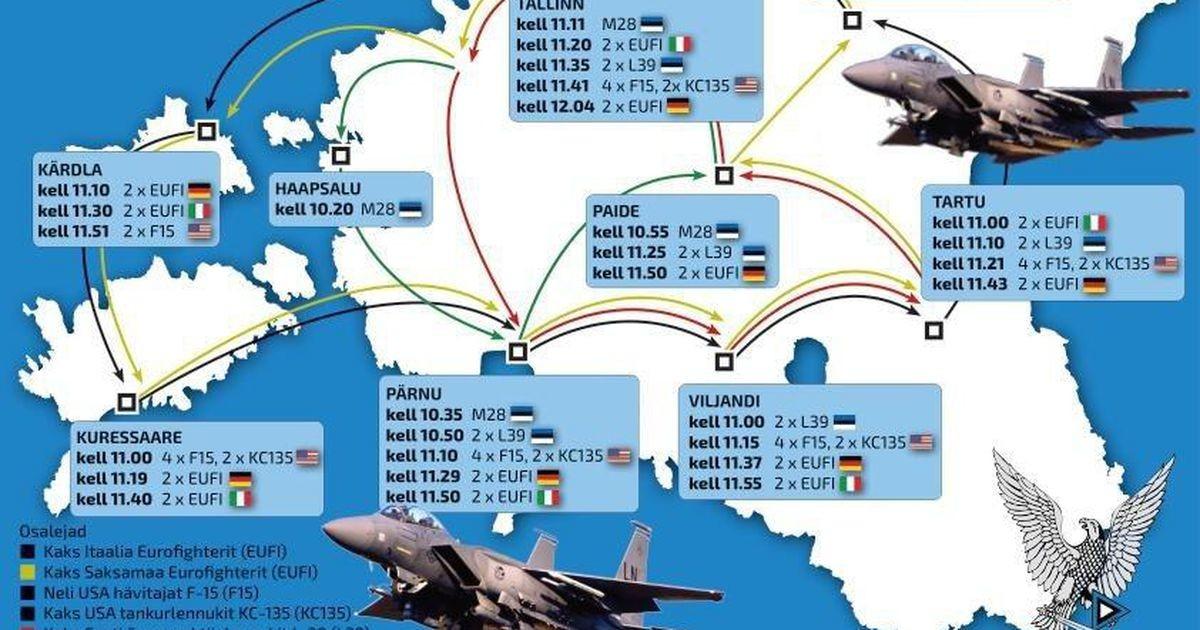 Hävituslennukid lendavad Eesti vabariigi aastapäeva puhul üle Rakvere