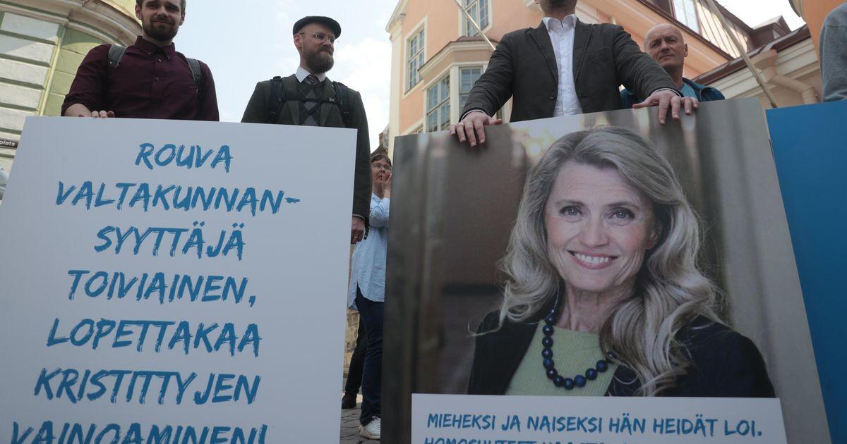SAPTK korraldas piketi vihakõnes süüdistatava Soome poliitiku toetuseks