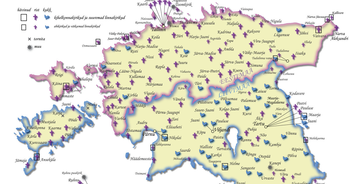 Viguriga kaardid: miks on poolte Eesti kirikute tornis risti asemel kukk?