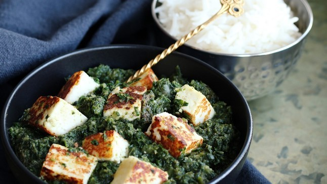 OTSE INDIAST: isetehtud paneer-juust spinatikastmes