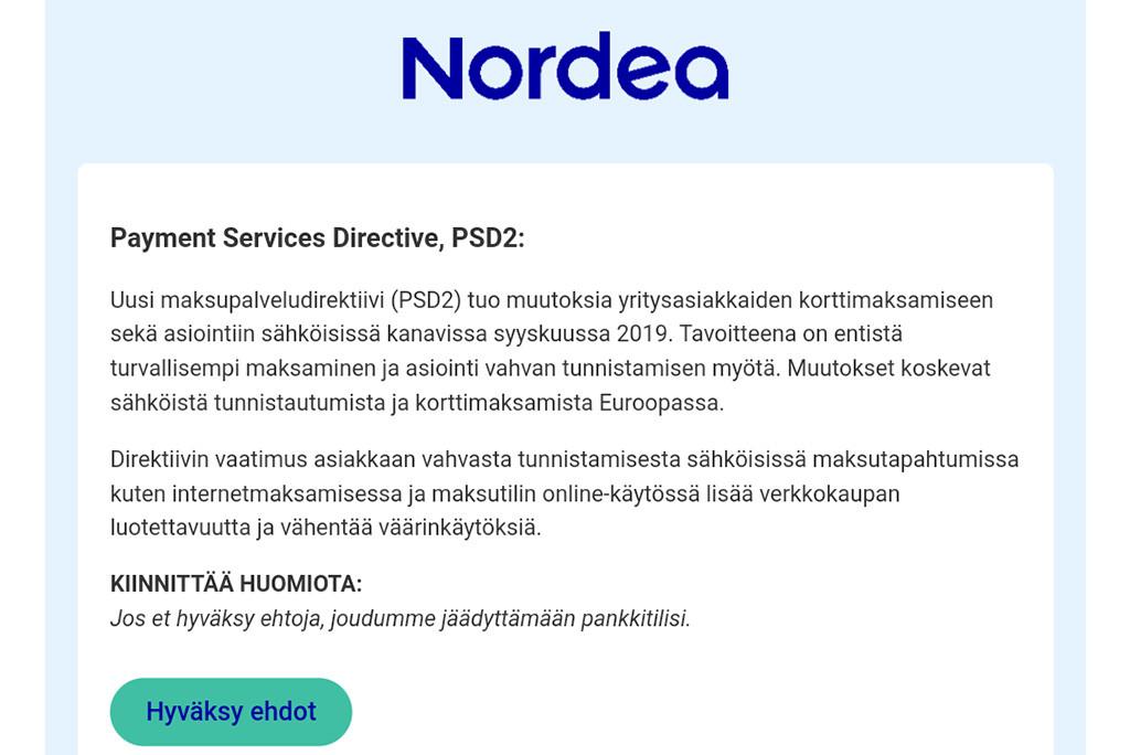 Soome ametkond hoiatab kavala veebipettuse eest