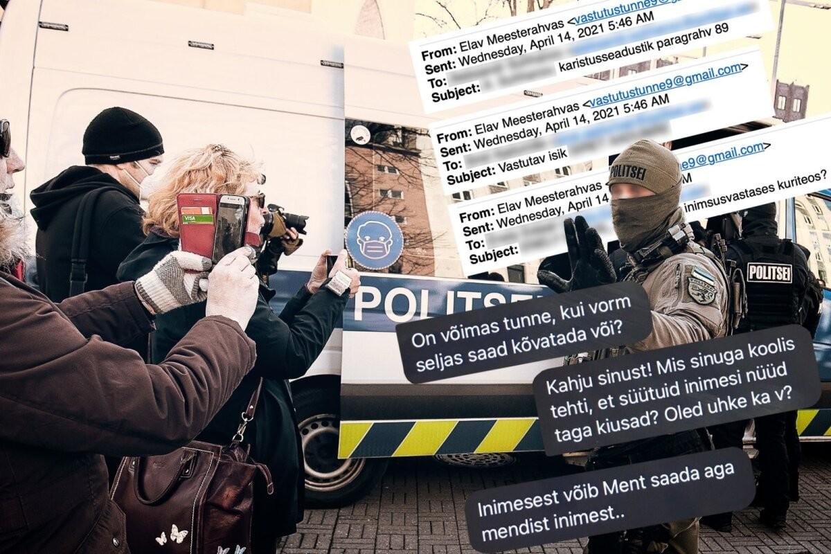 Psühholoogiline mõjutamine. Meeleavaldajad saadavad politseinikele ähvarduskirju