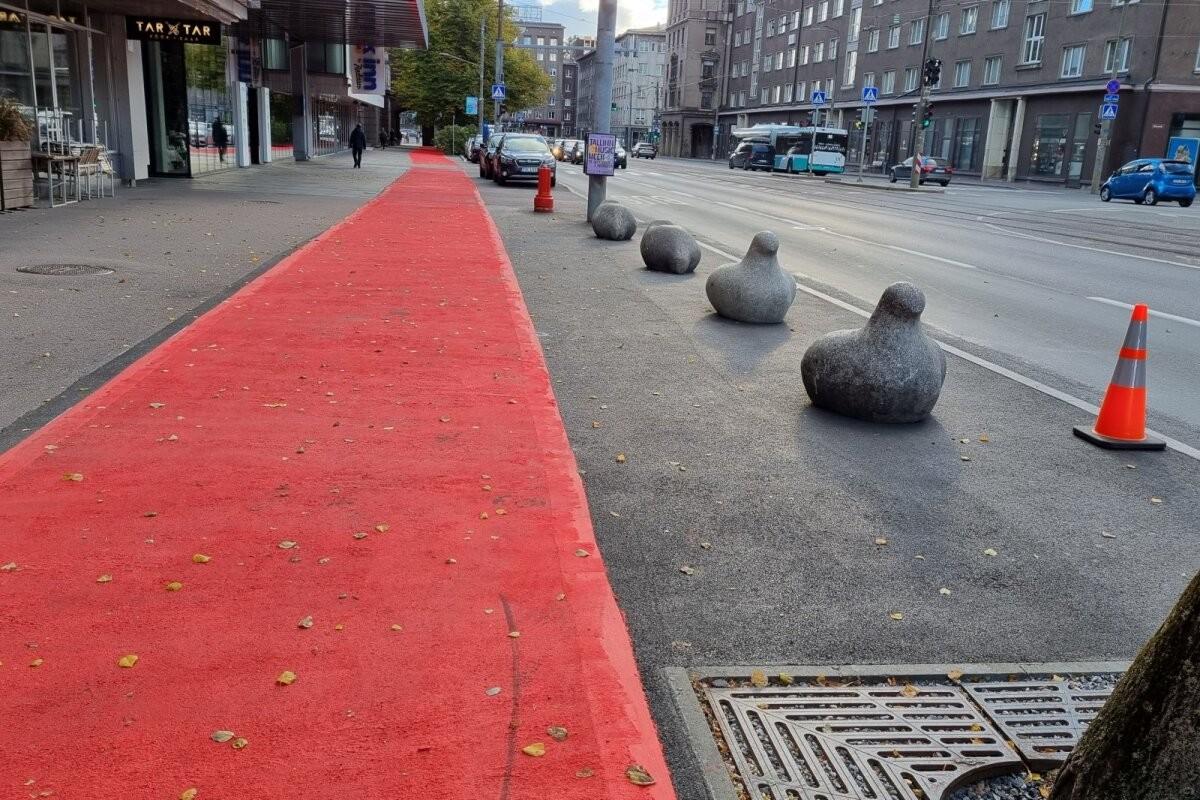 Teadlased avavad suu: pool aastat peale valimisi kulub Tallinna rattaradade värv maha ja sinna see jääbki