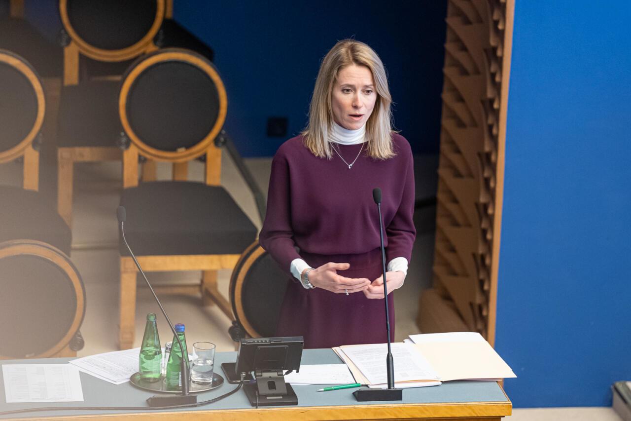 """EKRE ja Isamaa algatavad peaminister Kaja Kallase umbusaldamise. """"Tänane valitsus ei ehita, vaid ainult lõhub."""""""