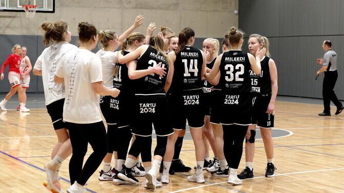 Tartu korvpallinaiskond krooniti 30-aastase vahe järel taas Eesti meistriks