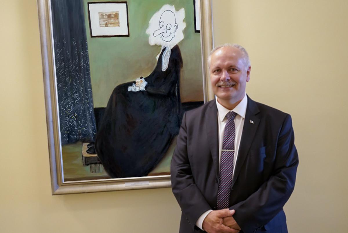 FOTO! Riigikogu esimeeste galeriis avati portreemaal Henn Põlluaasast