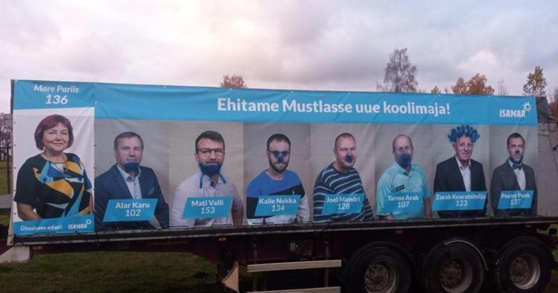 Sodijad leidsid Viljandi vallas üles valimisreklaamid