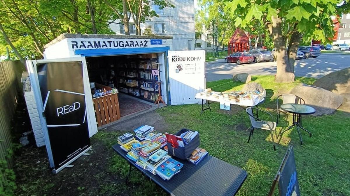 Jäätis, raamatud ja kohv: Kalamaja pargi kõrval avas uksed REaD raamatugaraaž