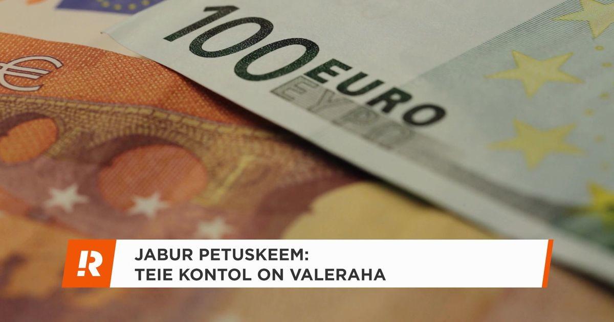 Reporter: «Teie kontol on valeraha!» - kas saab veel jaburamat petuskeemi olla?