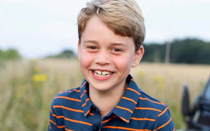 Prints George'ist avaldati kaheksanda sünnipäeva puhul uus pilt