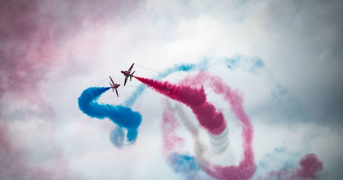 Briti õhuväe lennushow Tallinna lahe kohal