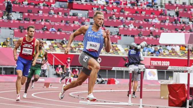 Eesti rekordi jooksnud Rasmus Mägi pääses Tokyo olümpial finaali